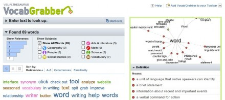 VocabGrabber : Thinkmap Visual Thesaurus