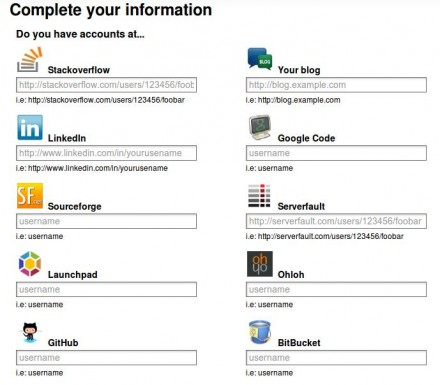 Complete your information