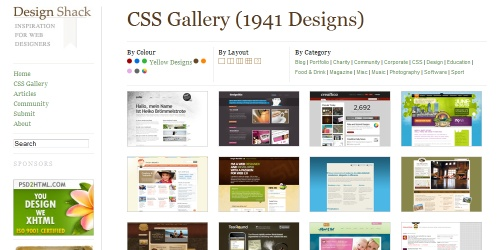 designshack css gallery