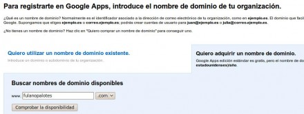 Registrarse en Google Apps