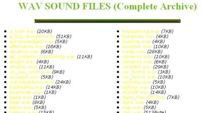 Wav Sound Files