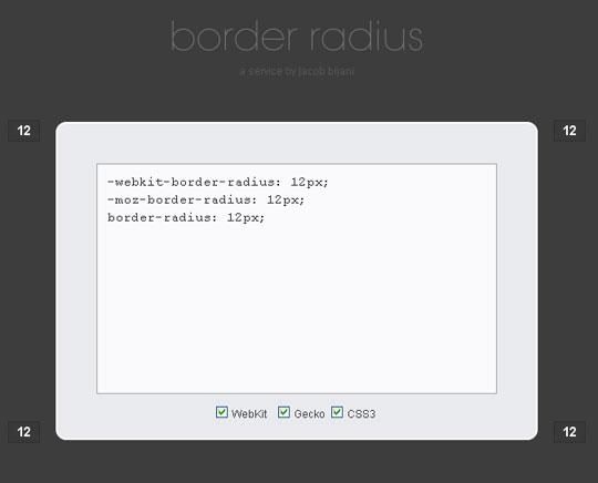 CSS3 Border Radius Generator