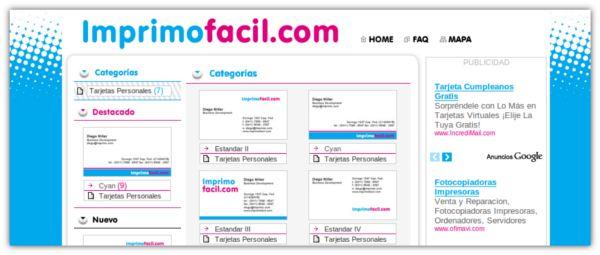 Imprimofacil Crea Tarjetas De Visita Personalizadas Listas Para Imprimir