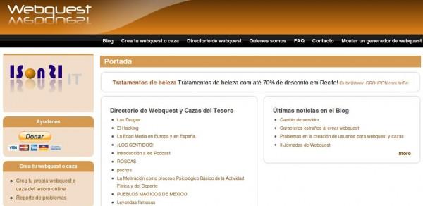 Generadores De Webquest Y Cazas Del Tesoro Para Uso Educativo