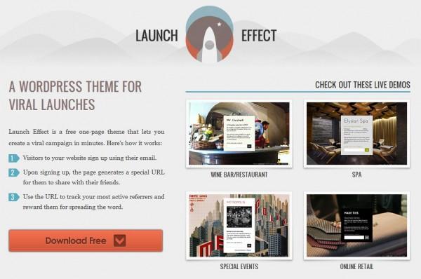 LaunchEffect – Usa WordPress como página de lanzamiento de tu aplicación