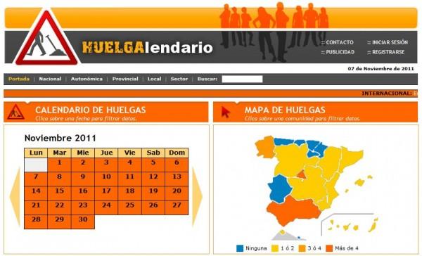 Calendario 2011 Espana.Huelgalendario Un Calendario De Huelgas En Espana
