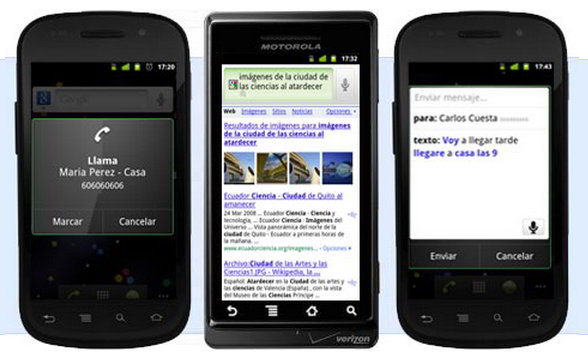 Voice Actions para Android