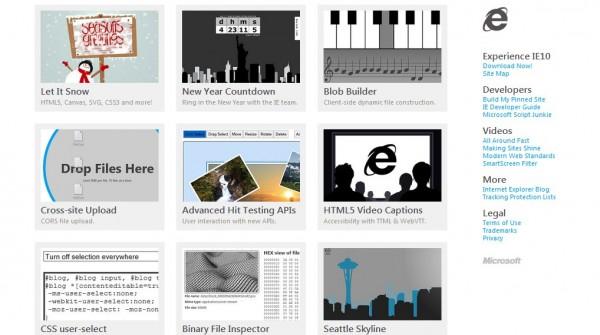 Internet Explorer test drive