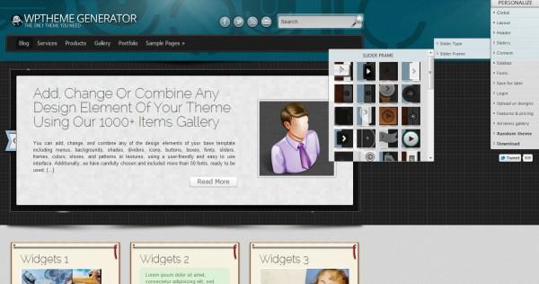 wpthemegenerator – Para crear temas para WordPress de forma visual