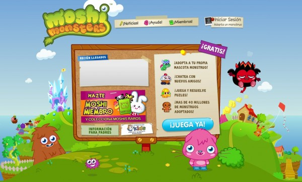 Ya Está Disponible Moshi Monsters En Español