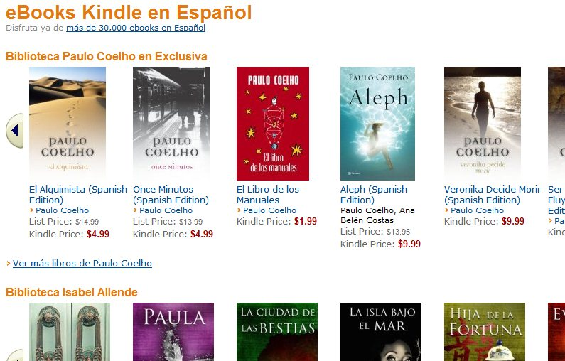 AMAZON EN ESPAÑOL CATALOGO