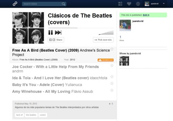 the beatles 8tracks