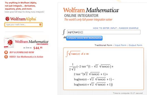 wolfram integrator