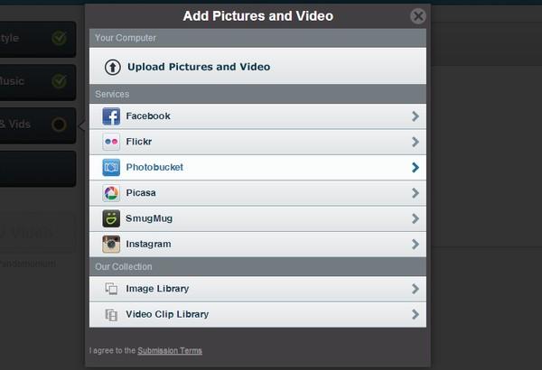 agregar fotos y videos
