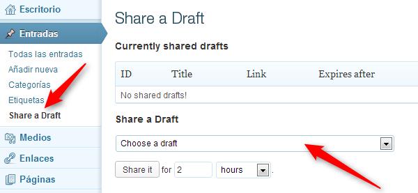 share a draft