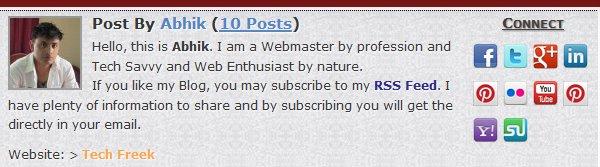 advanced author bio