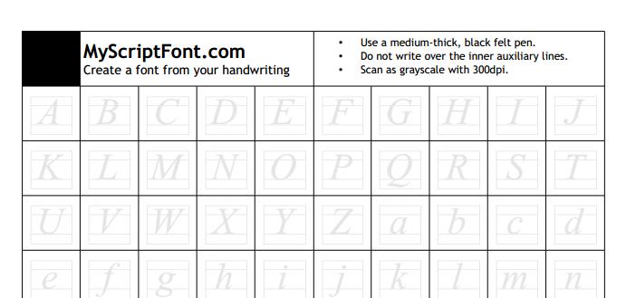 Dos opciones para transformar tu letra en una tipografía para usar en el ordenador