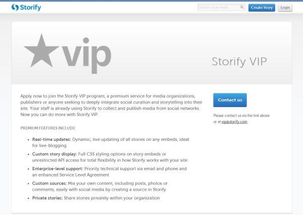 Storify VIP