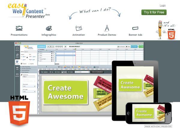 Easy Webcontent Presenter te permite crear presentaciones dinámicas e interactivas