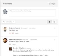 Comentarios Google+ en WordPress