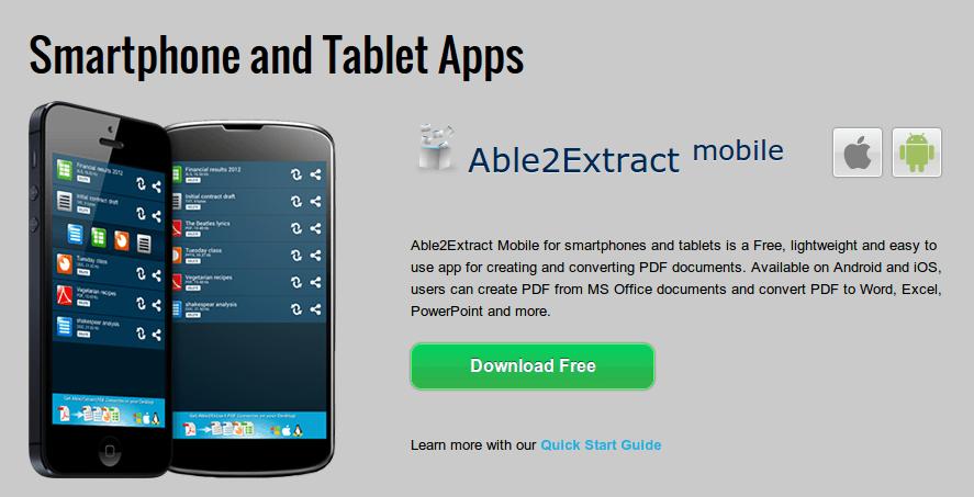 Transformando de PDF a texto, word, excel… desde Android y iOS