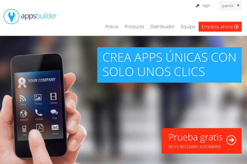 Appsbuilder, para crear aplicaciones para móviles, ya llegó a España