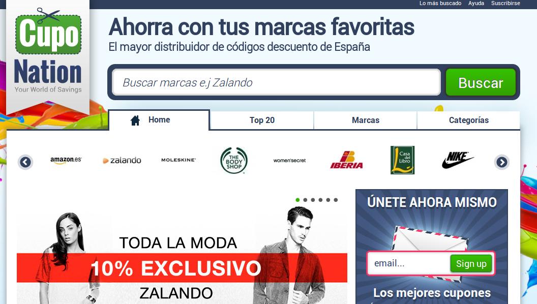 cuponation – Llega a España una popular web de cupones de descuento