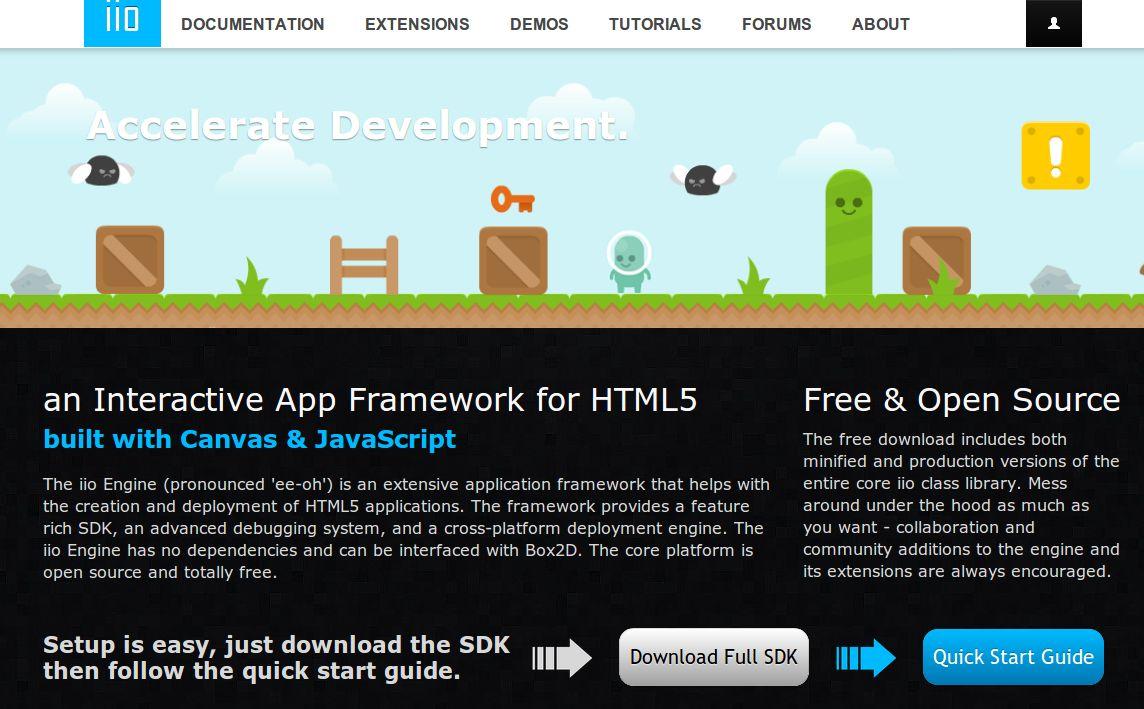 iio Engine – Para programar aplicaciones en HTML5