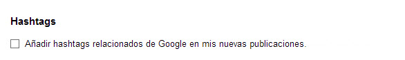 Configuración Google+