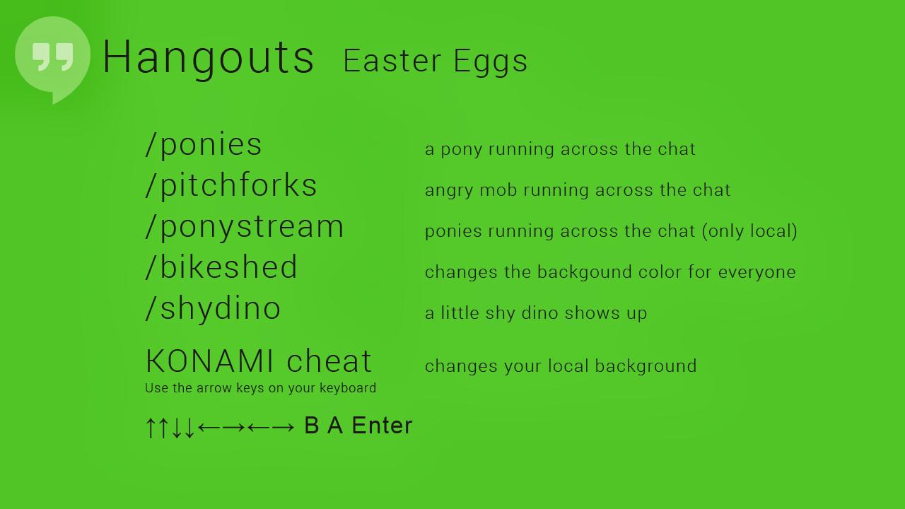 Huevos de Pascua para Google Hangouts