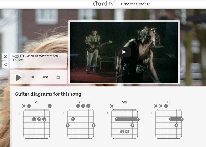 chordify extrae los acordes de la música que le indiquemos