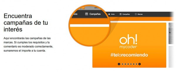 oh!mycoder – donde puedes ser recompensado por tus opiniones sobre marcas (solo España)