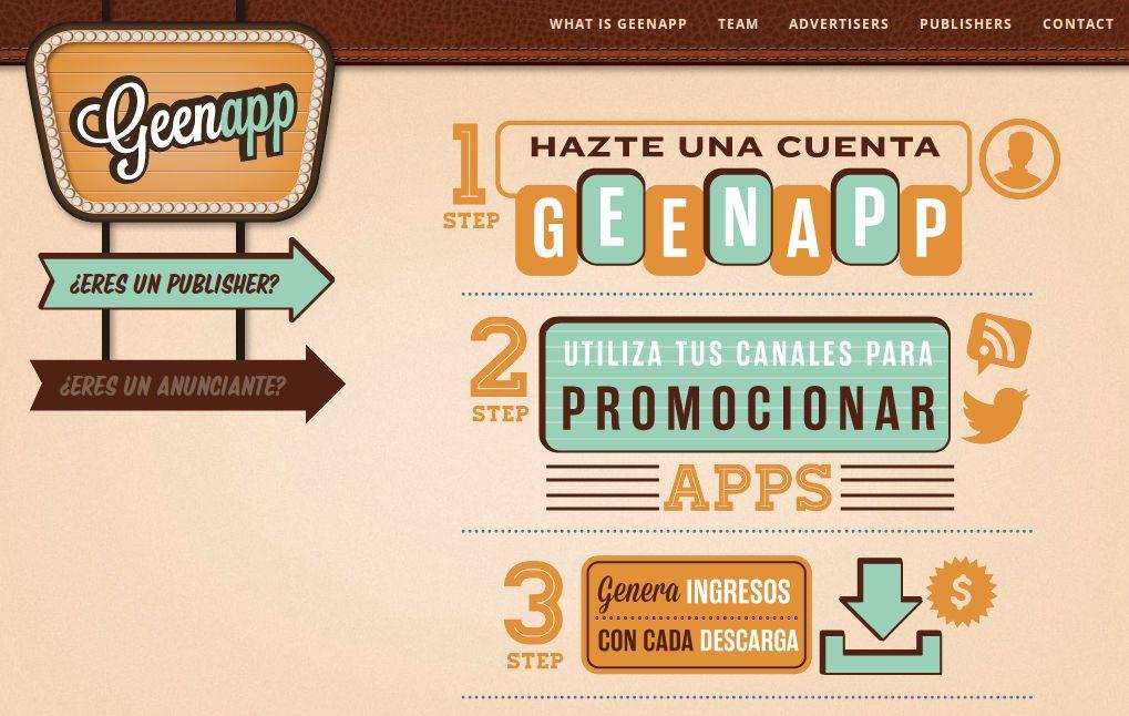 Geenapp – Gana dinero divulgando apps para móviles en tu blog, twitter, facebook…