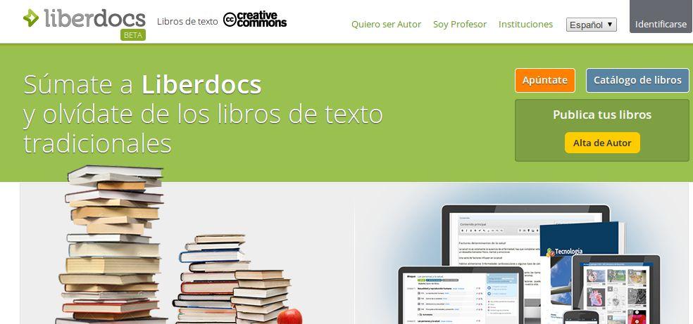 Liberdocs, libros de texto en español gratuitos, con licencia Creative Commons