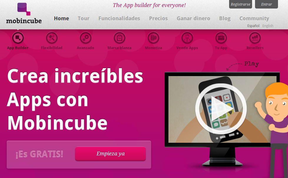 Mobincube, el generador de apps para iOS y Android, llega al millón de descargas