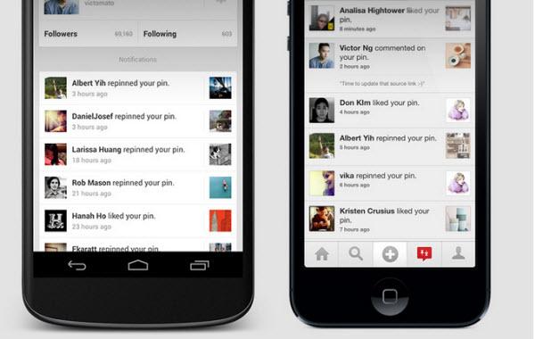Pinterest se actualiza en iOS y Android con interesantes novedades