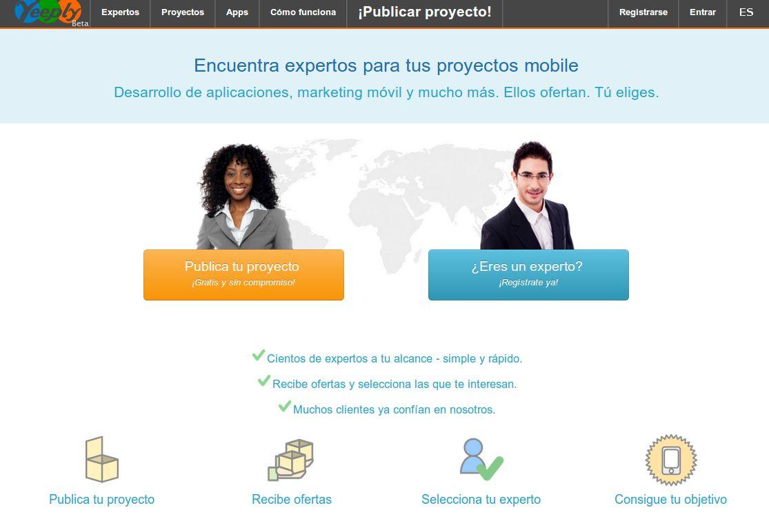 yeeply – Para encontrar programadores de apps móviles y recibir propuestas