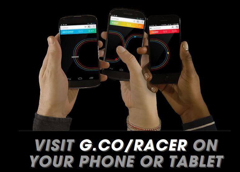 Visita g.co/racer desde tu móvil o tableta para el nuevo juego de Google