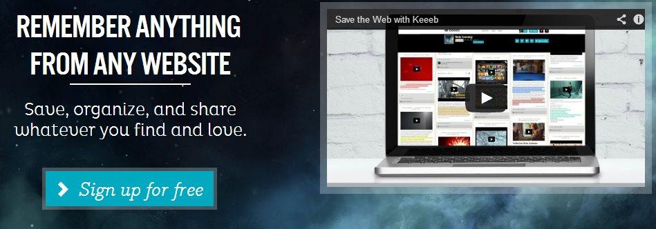 Keeeb, nueva herramienta de curación de contenidos