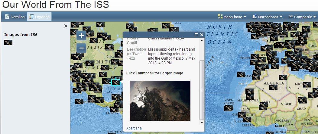 El mundo desde la Estación Espacial Internacional en un Google Map