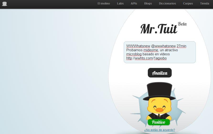Mr. Tuit, análisis de sentimientos en Twitter