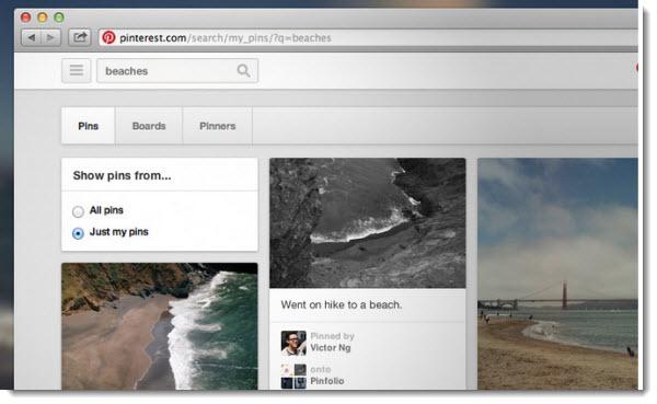 Pinterest ya permite realizar búsquedas en nuestros pines