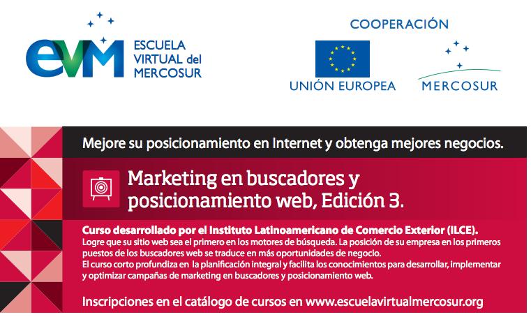 Curso Marketing en buscadores y posicionamiento web, de la Escuela Virtual Mercosur