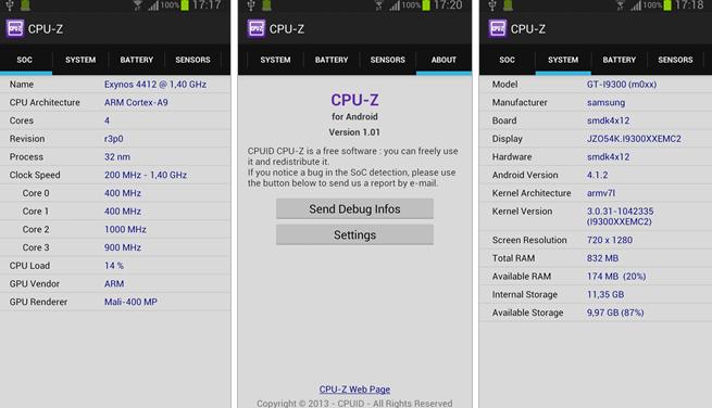 CPU-Z llega a Android para descubrir los secretos de su Hardware