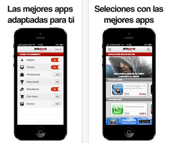 Atrappo, recomendaciones personalizadas de aplicaciones para Android y iPhone