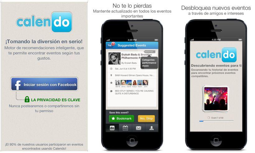 Calendo – Aplicación para iOS que nos ayuda a descubrir eventos basándose en nuestros gustos
