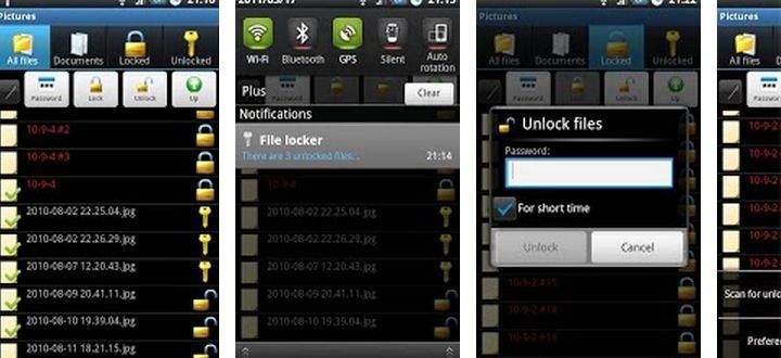 Para ocultar y bloquear archivos en Android