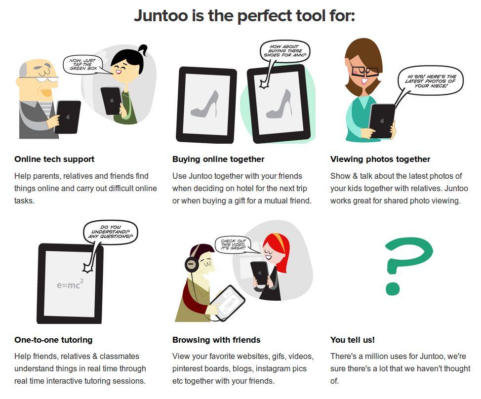 Juntoo – Para navegar con otras personas en la misma web o documentos usando el iPad