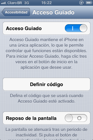 Cómo desactivar algunas regiones de la pantalla de nuestro iPhone o iPad