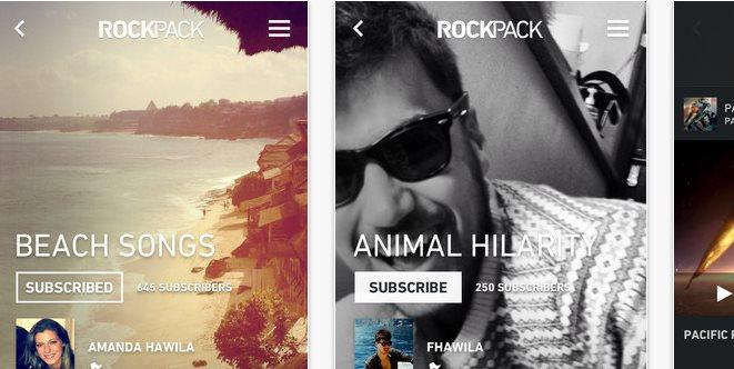 Rockpack, nueva app de curación de contenido de vídeo en iOS